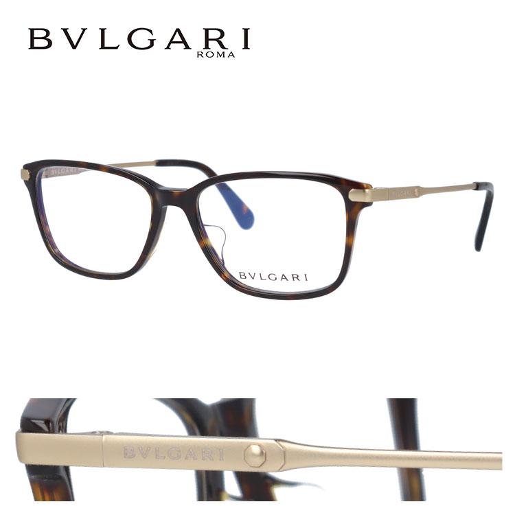 【マラソン期間ポイント10倍】ブルガリ 伊達メガネ 眼鏡 アジアンフィット BVLGARI BV3030D 504 55サイズ 国内正規品 スクエア レディース