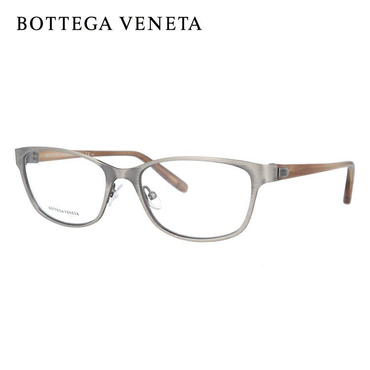 【マラソン期間ポイント20倍】ボッテガヴェネタ メガネフレーム おしゃれ老眼鏡 PC眼鏡 スマホめがね 伊達メガネ リーディンググラス 眼精疲労 BOTTEGA VENETA BV276 4FE 54サイズ スクエア ユニセックス メンズ レディース