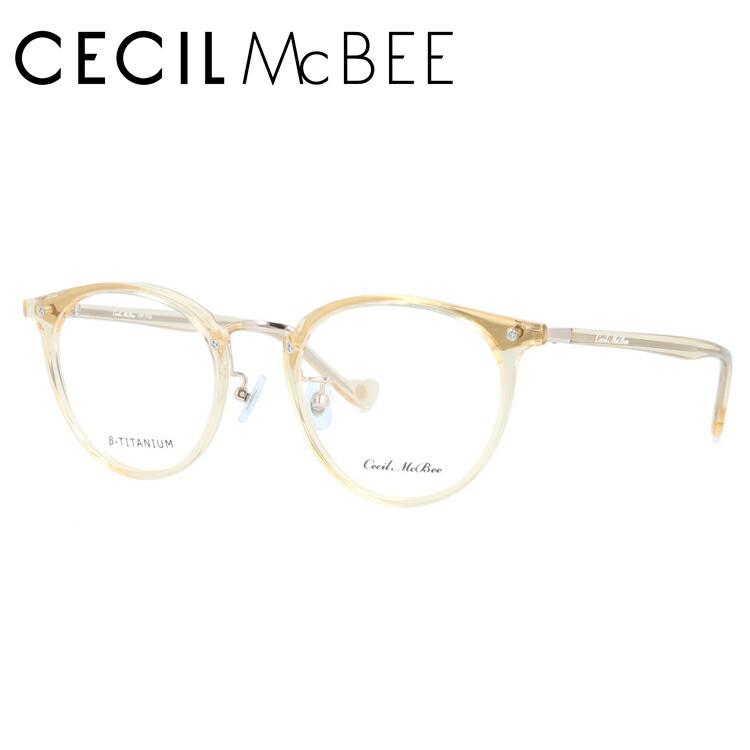 セシルマクビー メガネフレーム 伊達メガネ CECIL McBEE CMF 7036-3 49サイズ ボストン レディース