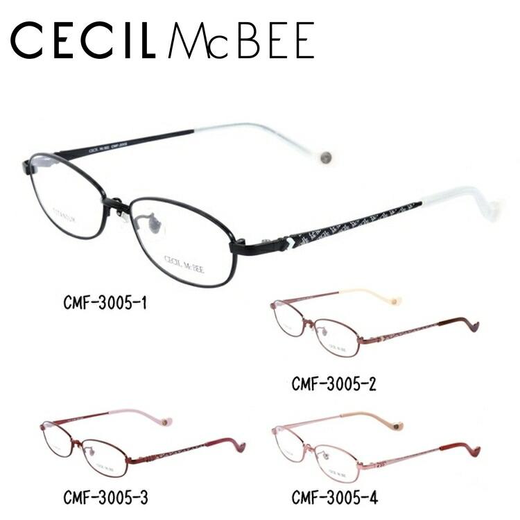セシルマクビー メガネ フレーム CECIL McBEE 伊達 眼鏡 CMF3005 全4カラー レディース ブランドメガネ ダテメガネ ファッションメガネ 伊達レンズ無料(度なし・UVカット)
