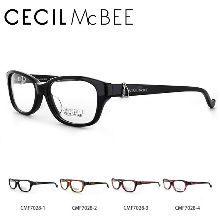 セシルマクビー メガネ フレーム CECIL McBEE 伊達 眼鏡 CMF7028 全4カラー レディース ブランドメガネ ダテメガネ ファッションメガネ 伊達レンズ無料(度なし・UVカット)
