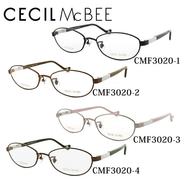 セシルマクビー メガネ フレーム CECIL McBEE 伊達 眼鏡 CMF3020 全4カラー 52 レディース ブランドメガネ ダテメガネ ファッションメガネ 伊達レンズ無料(度なし・UVカット)