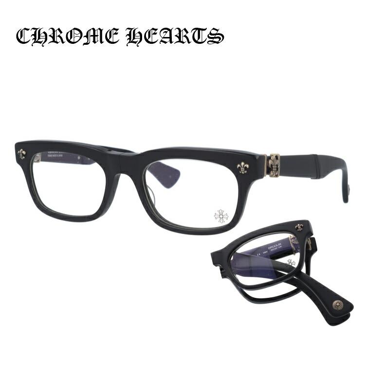 クロムハーツ メガネ Chrome Hearts 眼鏡 BSフレアー フォールディングモデル 折り畳み DROOLIN MBK Matte Black シルバー/シルバー メンズ レディース ブランド 伊達メガネ【伊達レンズ無料(度なし/UVカット/非球面)】