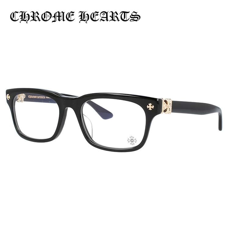 クロムハーツ メガネ Chrome Hearts 眼鏡 レギュラーフィット CHROME HEARTS VAGILANTE BK-GP 54 スクエア 【老眼鏡・PCメガネ・伊達メガネ レンズオプション無料】メンズ レディース 度なし 度付き リーディンググラス パソコン スマホ ブルーライトカット