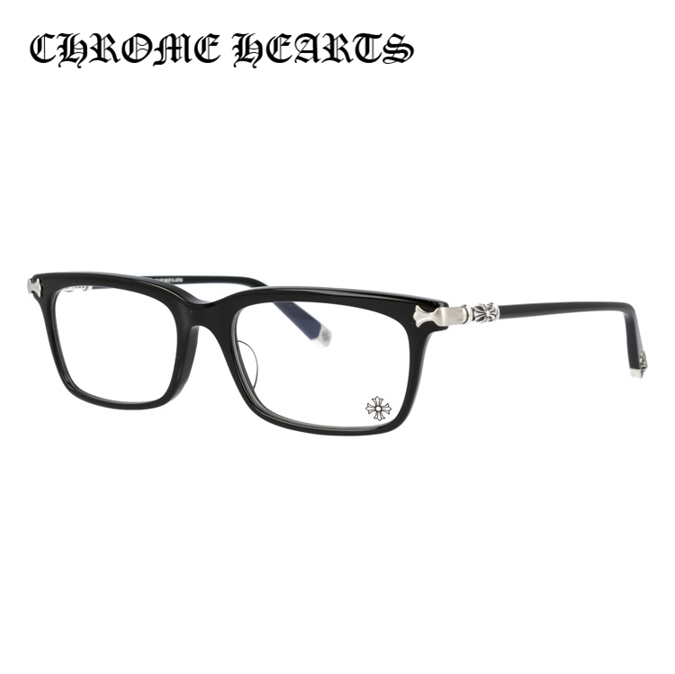 【マラソン期間ポイント5倍】クロムハーツ メガネフレーム おしゃれ老眼鏡 PC眼鏡 スマホめがね 伊達メガネ リーディンググラス 眼精疲労 アジアンフィット CHROME HEARTS FUN HATCH-A BK 53サイズ 海外正規品 スクエア ユニセックス メンズ レディース