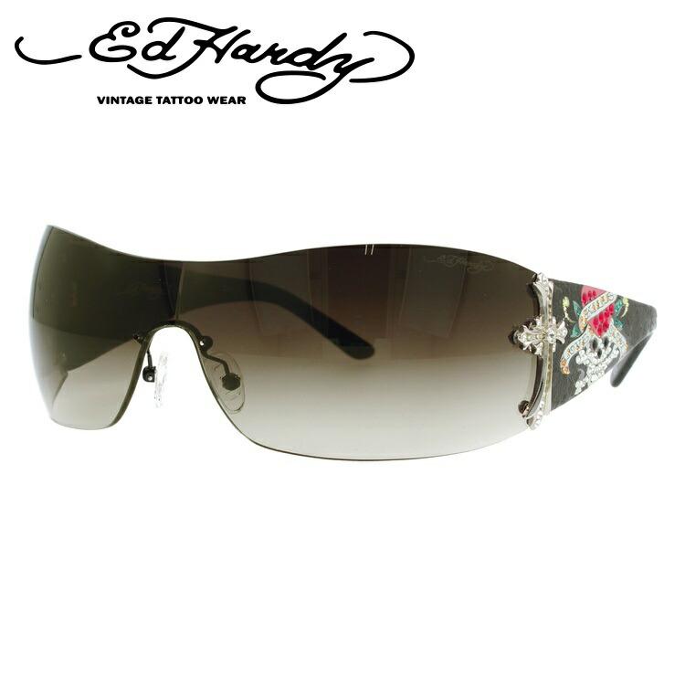 エドハーディー サングラス EdHardy クロス CROSS BLACK ブラック/スモークグラデーション メンズ レディース UVカット メガネ ブランド