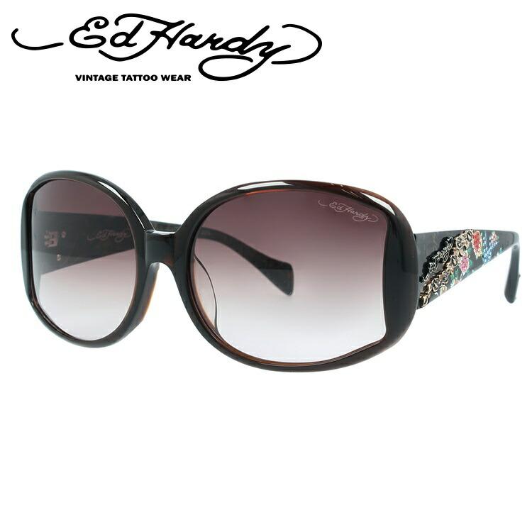 エドハーディー サングラス EdHardy バードローズ BIRD ROSES ブラウン/ブラウングラデーション メンズ レディース UVカット メガネ ブランド