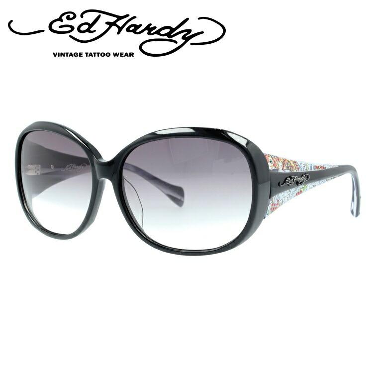 エドハーディー サングラス EdHardy コイレアピン KOI LEAPING ブラック/スモークグラデーション メンズ レディース UVカット メガネ ブランド