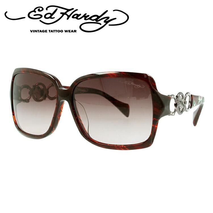 エドハーディー サングラス EdHardy ローズロングステム ROSES LONG STEM レッドホーン/ブラウングラデーション メンズ レディース UVカット メガネ ブランド