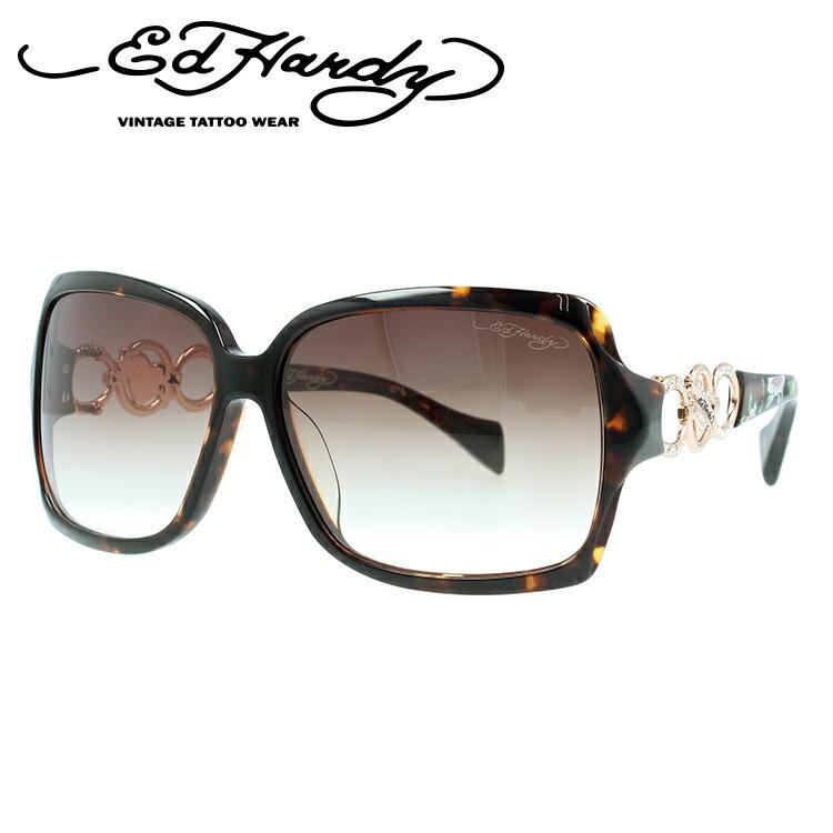 エドハーディー サングラス EdHardy ローズロングステム ROSES LONG STEM ブラウンホーン/ブラウングラデーション メンズ レディース UVカット メガネ ブランド
