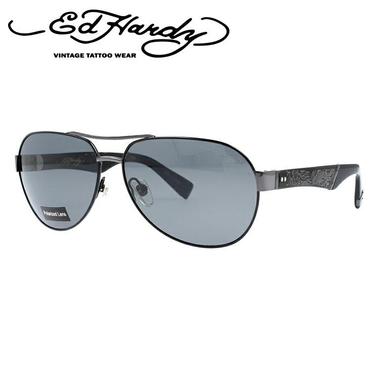 エドハーディー サングラス EdHardy クロウリングドラゴン3 CRAWLING DRAGON 3 BLACK (偏光) メンズ レディース UVカット メガネ ブランド