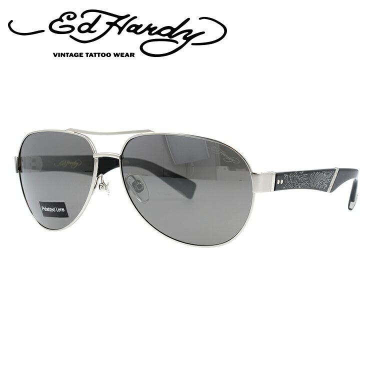 エドハーディー サングラス EdHardy クロウリングドラゴン3 CRAWLING DRAGON 3 M.SILVER (偏光) メンズ レディース UVカット メガネ ブランド