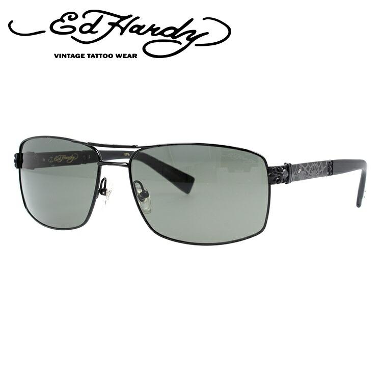 エドハーディー サングラス EdHardy スパイダーウェブ SPIDER WEB BLACK (偏光) メンズ レディース UVカット メガネ ブランド