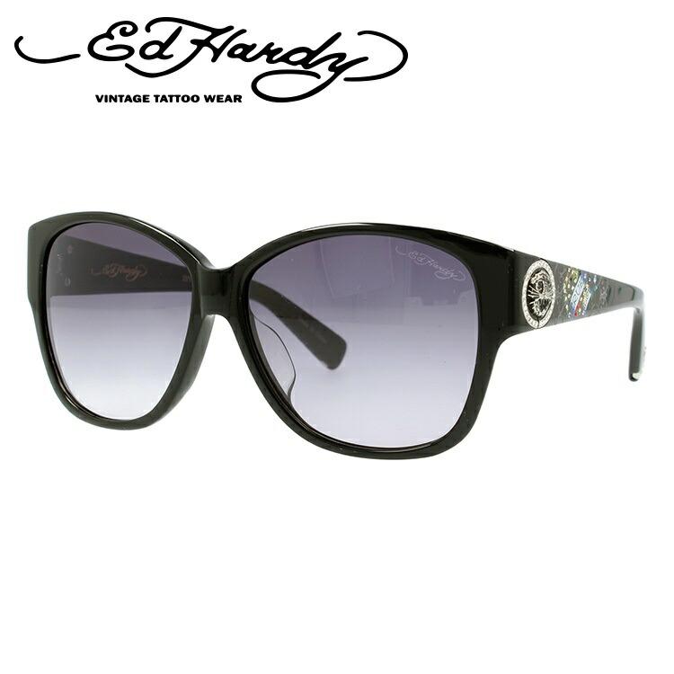 エドハーディー サングラス EdHardy タイガー2 TIGER 2 BLACK メンズ レディース UVカット メガネ ブランド