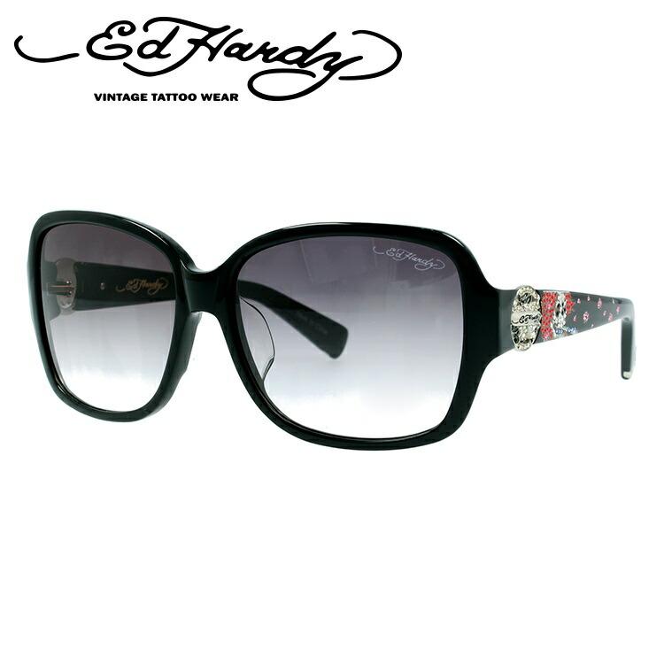 エドハーディー サングラス EdHardy ビューティフルゴースト BEAUTIFUL GHOST 2 BLACK メンズ レディース UVカット メガネ ブランド