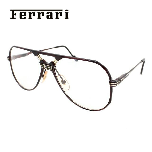 【マラソン期間ポイント20倍】フェラーリ メガネ フレーム Ferrari 伊達 眼鏡 F23 968 59 メンズ ブランドメガネ ダテメガネ ファッションメガネ 伊達レンズ無料(度なし・UVカット) ギフト
