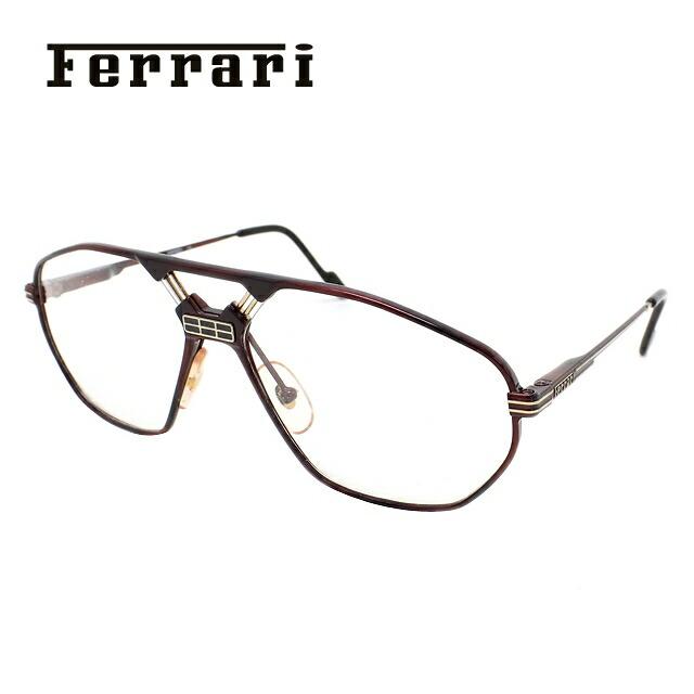 フェラーリ メガネ フレーム Ferrari 伊達 眼鏡 F22 968 62 メンズ ブランドメガネ ダテメガネ ファッションメガネ 伊達レンズ無料(度なし・UVカット)