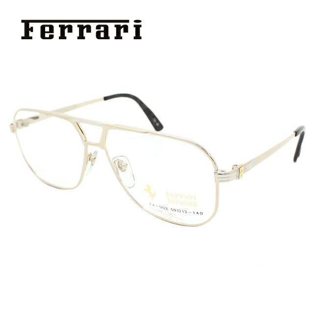 フェラーリ メガネ フレーム Ferrari 伊達 眼鏡 FA902 1 59 フェラーエンブレム 18K使用 メンズ ブランドメガネ ダテメガネ ファッションメガネ 伊達レンズ無料(度なし・UVカット)