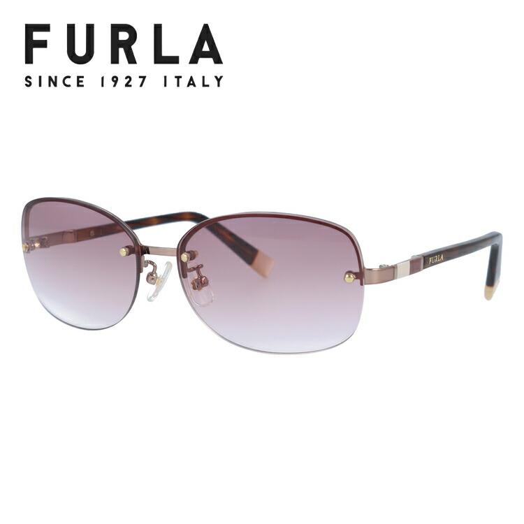 フルラ FURLA サングラス 国内正規品 SU4356J 08FE 59サイズ オーバル レディース 女性 ブランドサングラス メガネ UVカット カジュアル ファッション