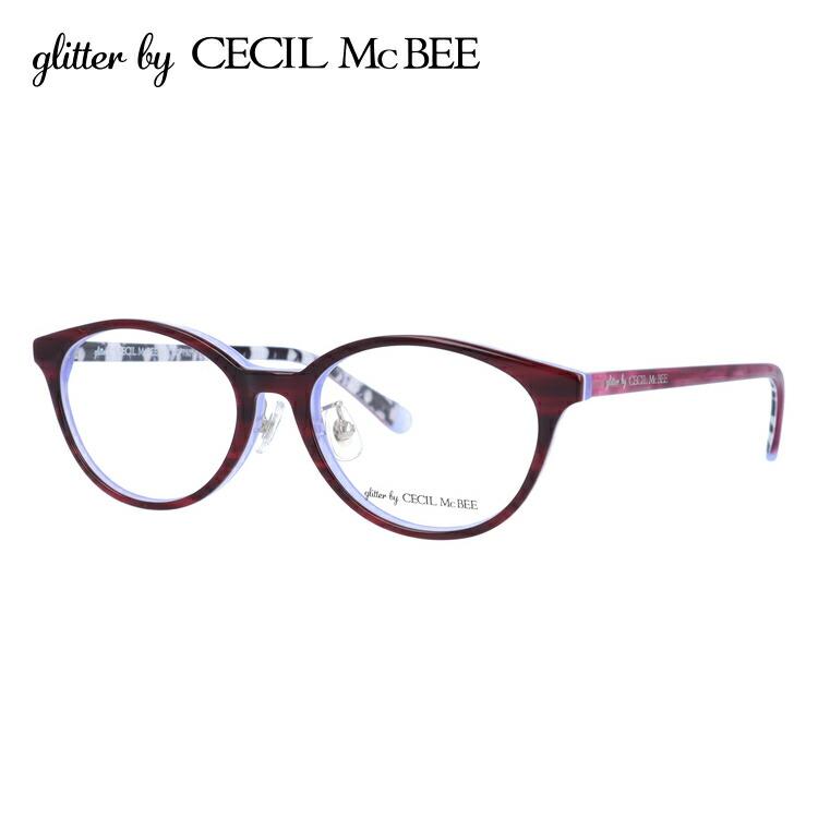 グリッターバイセシルマクビー メガネフレーム 伊達メガネ アジアンフィット glitter by CECIL McBEE GCF 7501-1 51サイズ オーバル レディース