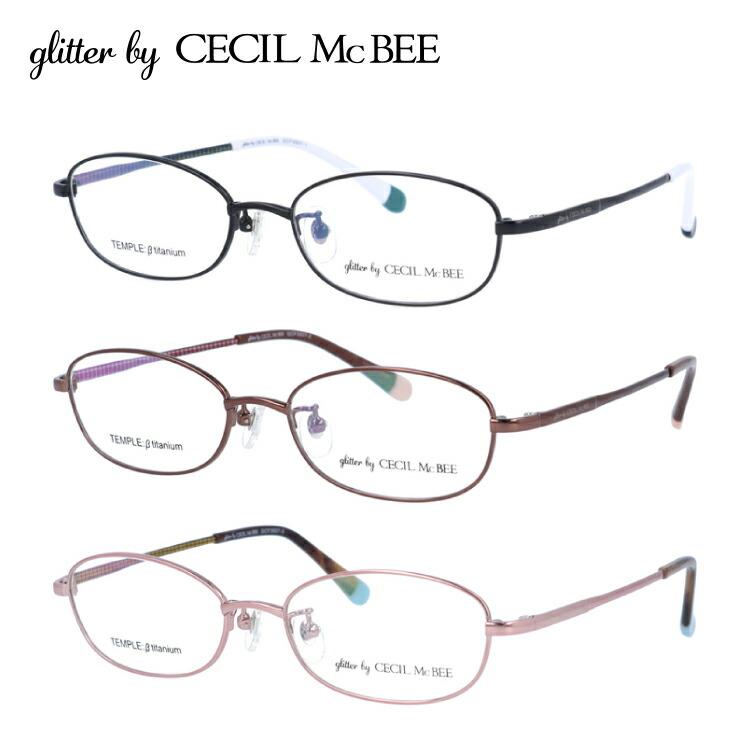 グリッターバイセシルマクビー メガネフレーム おしゃれ老眼鏡 PC眼鏡 スマホめがね 伊達メガネ リーディンググラス 眼精疲労 glitter by CECIL McBEE GCF 3507 全3カラー 51サイズ オーバル ユニセックス メンズ レディース