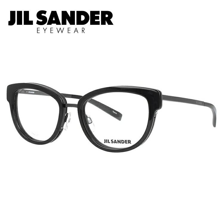 JIL SANDER メガネフレーム おしゃれ老眼鏡 PC眼鏡 スマホめがね 伊達メガネ リーディンググラス 眼精疲労 ジル・サンダー 伊達 眼鏡 J2005-A 52 レディース ファッションメガネ