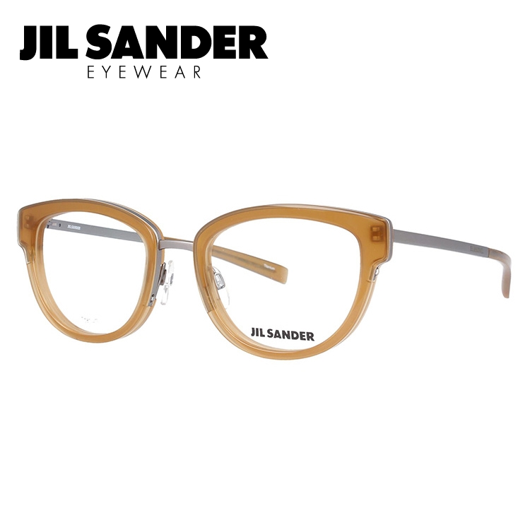 JIL SANDER メガネ フレーム ジル・サンダー 伊達 眼鏡 J2005-D 52 レディース ブランドメガネ ダテメガネ ファッションメガネ 伊達レンズ無料(度なし・UVカット)