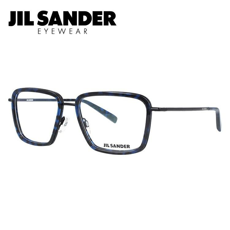 JIL SANDER メガネ フレーム ジル・サンダー 伊達 眼鏡 J2007-B 55 メンズ レディース ブランドメガネ ダテメガネ ファッションメガネ 伊達レンズ無料(度なし・UVカット)