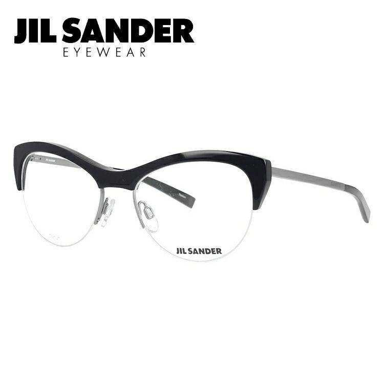 ジル・サンダー ファッションメガネ メガネ ダテメガネ フレーム J2010-A 伊達レンズ無料(度なし・UVカット) レディース SANDER 伊達 JIL ブランドメガネ 54 眼鏡