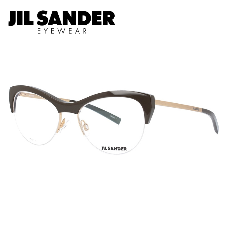 JIL SANDER メガネ フレーム ジル・サンダー 伊達 眼鏡 J2010-B 54 レディース ブランドメガネ ダテメガネ ファッションメガネ 伊達レンズ無料(度なし・UVカット)