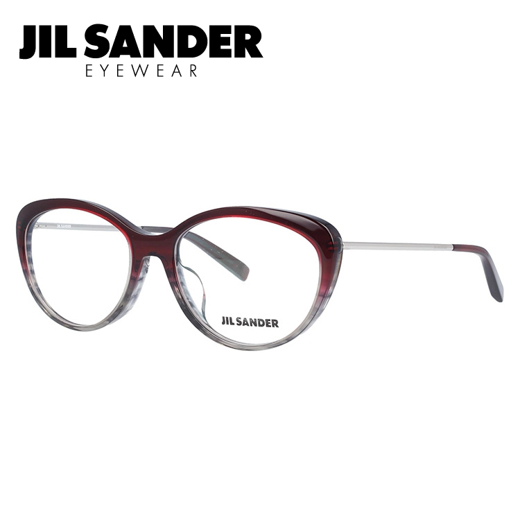 JIL SANDER メガネ フレーム ジル・サンダー 伊達 眼鏡 J4001-N 55 アジアンフィット レディース ブランドメガネ ダテメガネ ファッションメガネ 伊達レンズ無料(度なし・UVカット)