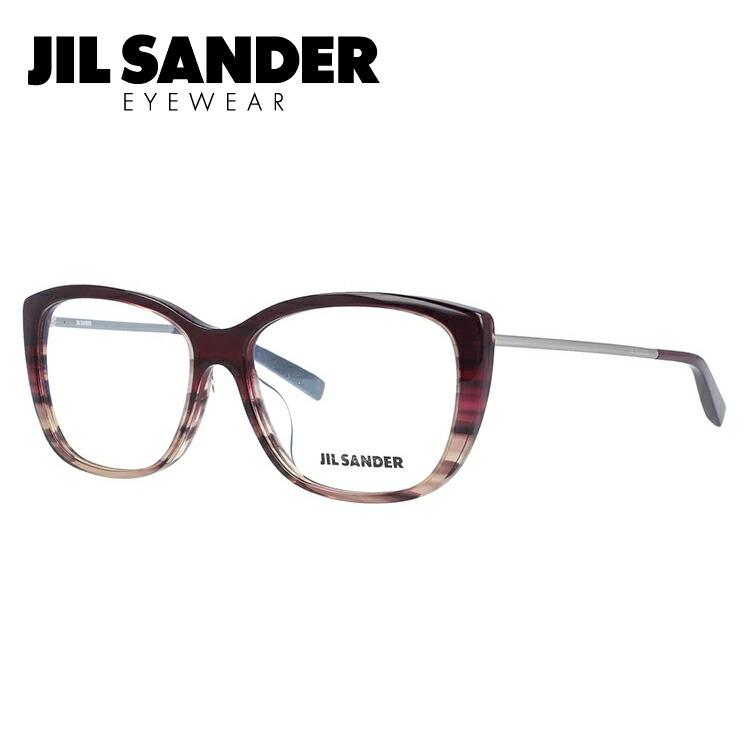 JIL SANDER メガネ フレーム ジル・サンダー 伊達 眼鏡 J4002-L 55 アジアンフィット レディース ブランドメガネ ダテメガネ ファッションメガネ 伊達レンズ無料(度なし・UVカット) ギフト