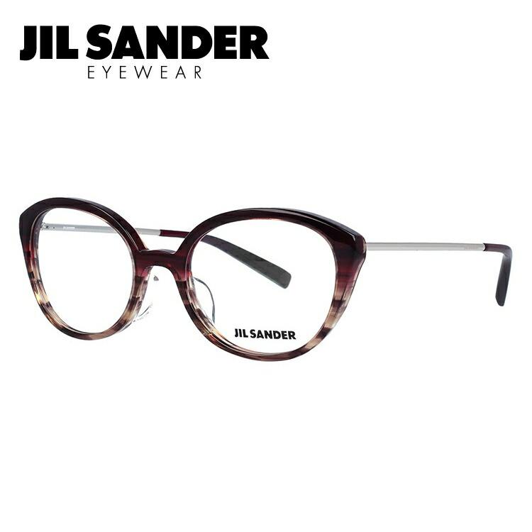 JIL SANDER メガネ フレーム ジル・サンダー 伊達 眼鏡 J4007-D 52 レギュラーフィット レディース ブランドメガネ ダテメガネ ファッションメガネ 伊達レンズ無料(度なし・UVカット)