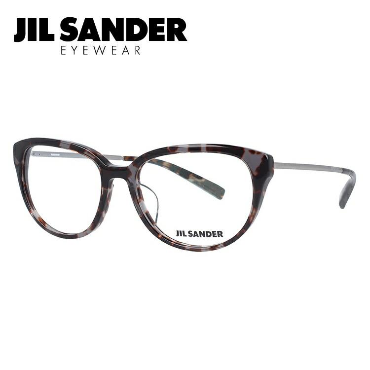 JIL SANDER メガネフレーム おしゃれ老眼鏡 PC眼鏡 スマホめがね 伊達メガネ リーディンググラス 眼精疲労 ジル・サンダー 伊達 眼鏡 J4008-B 52 レギュラーフィット レディース ファッションメガネ