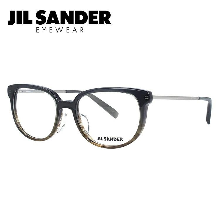 JIL SANDER メガネフレーム おしゃれ老眼鏡 PC眼鏡 スマホめがね 伊達メガネ リーディンググラス 眼精疲労 ジル・サンダー 伊達 眼鏡 J4009-D 52 レギュラーフィット レディース ファッションメガネ
