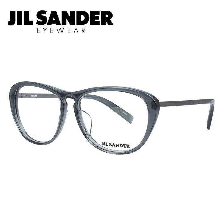 JIL SANDER メガネフレーム おしゃれ老眼鏡 PC眼鏡 スマホめがね 伊達メガネ リーディンググラス 眼精疲労 ジル・サンダー 伊達 眼鏡 J4013-D 53 レギュラーフィット レディース ファッションメガネ