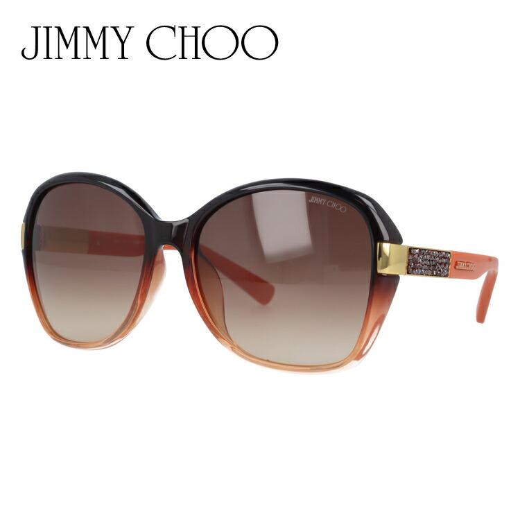ジミーチュウ サングラス JIMMY CHOO 国内正規品 ALANA FS EXN/D8 59 オレンジ/ブラック アジアンフィット レディース