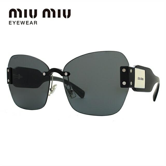 ミュウミュウ サングラス miu miu MU08SS 1AB9K1 63サイズ 国内正規品 バタフライ ユニセックス メンズ レディース