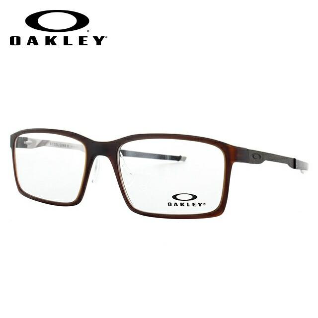 オークリー メガネ 国内正規品 OAKLEY 眼鏡 スティールラインS OX8097-0454 54 マットダークアンバー レギュラーフィット Steel Line S メンズ レディース スポーツ アイウェア