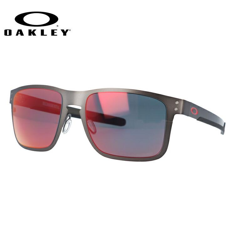 オークリー サングラス 国内正規品 OAKLEY ホルブルック メタル OO4123-0555 55サイズ 調整可能ノーズパッド HOLBROOK METAL 偏光レンズ ミラーレンズ メンズ レディース スポーツ アイウェア