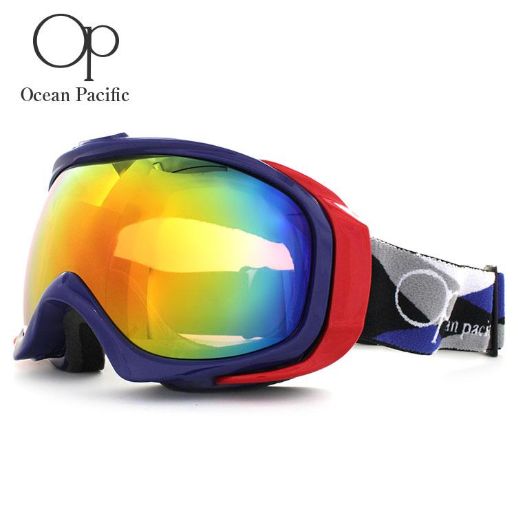 オーシャンパシフィック ゴーグル ミラーレンズ アジアンフィット OCEAN PACIFIC OP 9818 全3カラー ユニセックス メンズ レディース スキーゴーグル スノーボードゴーグル スノボ