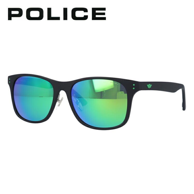 ポリス サングラス 2019年新作 偏光サングラス ミラーレンズ POLICE SPL982I U28V 57サイズ 国内正規品 ウェリントン ユニセックス メンズ レディース ギフト