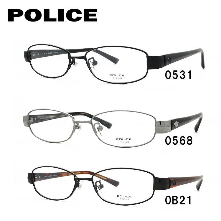 ポリス メガネフレーム 伊達メガネ POLICE V8777J 52サイズ 国内正規品 オーバル ユニセックス メンズ レディース ギフト