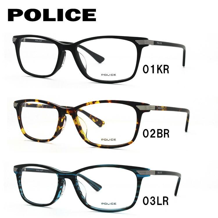 ポリス メガネフレーム 伊達メガネ アジアンフィット POLICE VPL663J 全3カラー 52サイズ 国内正規品 スクエア ユニセックス メンズ レディース