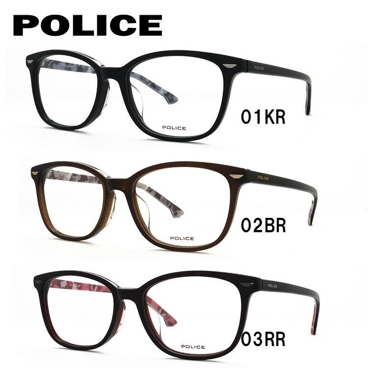ポリス メガネフレーム 伊達メガネ アジアンフィット POLICE VPL664J 全3カラー 51サイズ 国内正規品 ウェリントン ユニセックス メンズ レディース