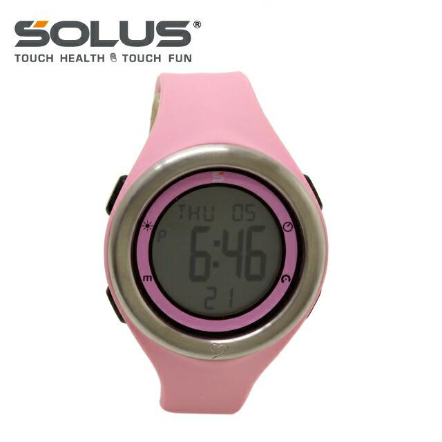ソーラス 腕時計 SOLUS ウォッチ 01-910-003 ピンク メンズ レディース スポーツ ダイエット エクササイズ【国内正規品】【1年保証付】 ギフト