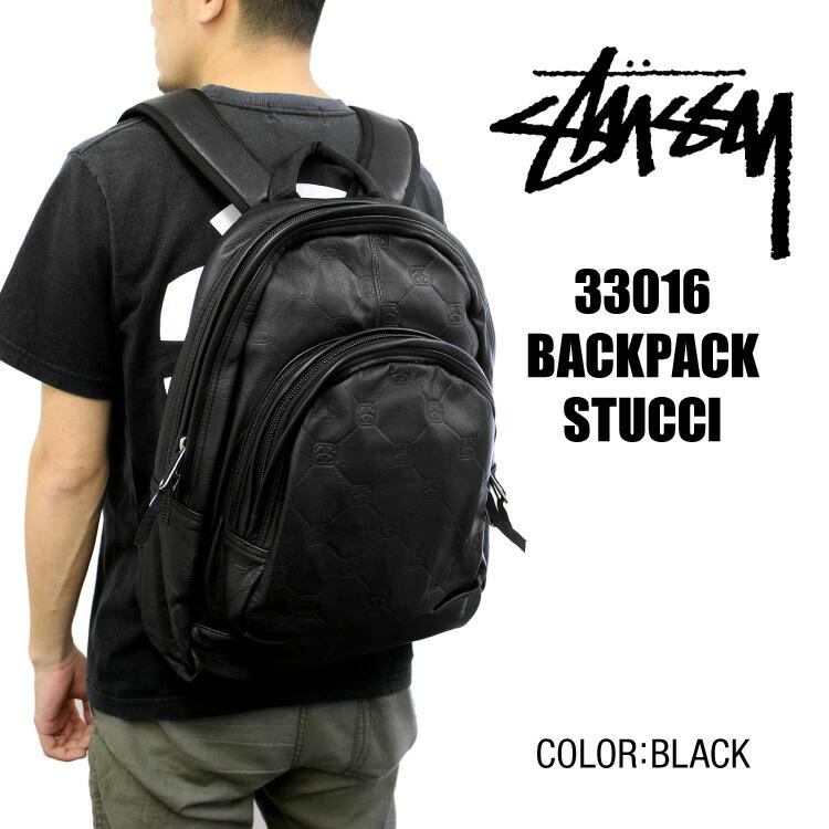 【訳あり】ステューシー STUSSY 33016 BACKPACK STUCCI バックパック リュックサック ブラック メンズ OLD STUSSY オールドステューシー ストリート スケボー スケーター ファッション 80's 90's 希少 レア