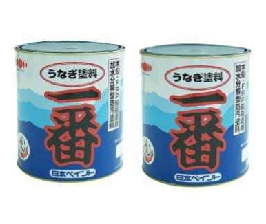 【日本ペイント】【2缶セット】 日本ペイント 船底塗料 うなぎ塗料 一番 4kg缶 2缶セット ブルー (FRP船船底部 防汚塗料/船底塗料)