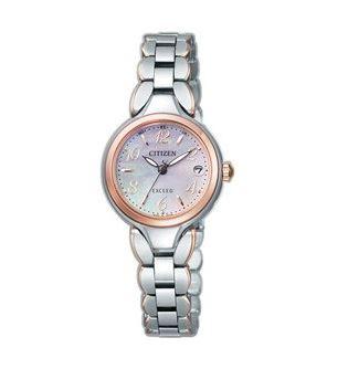 シチズン CITIZEN EXCEED エクシード 腕時計 レディース ES8044-53W エコ・ドライブ 電波時計 チタン