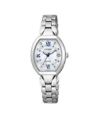 シチズン CITIZEN EXCEED エクシード 腕時計 レディース ES8060-65W エコ・ドライブ 電波時計 チタン